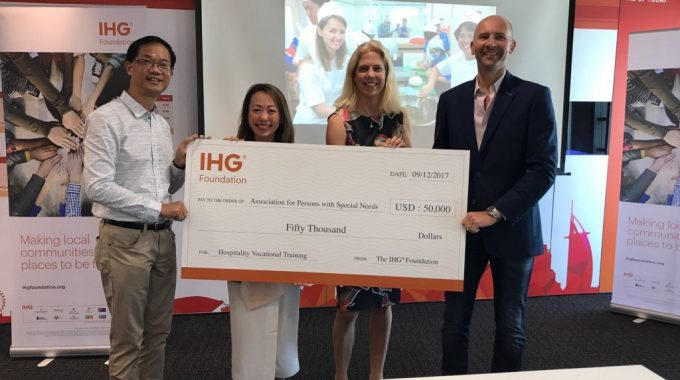 IHG Foundation Grants Gifts APSN US$50,000